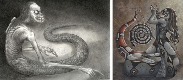 Naga mythology    and Medusa